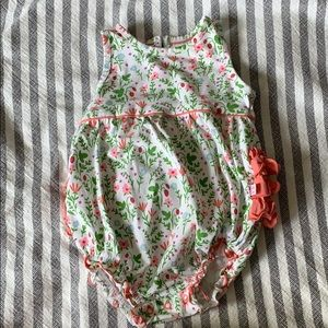 Strawberry fields bubble romper